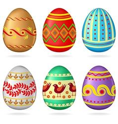 Egg collection ornamen vector