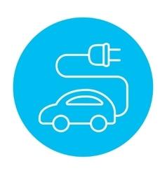 Electric car line icon vector