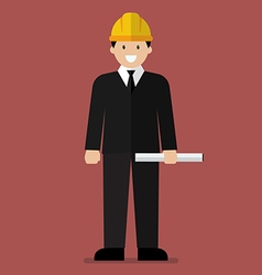 Engineer flat cartoon vector