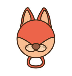 face fox cartoon animal vector image