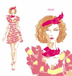 fashion beauty vector image
