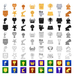 film awards and prizes cartoon icons in set vector image