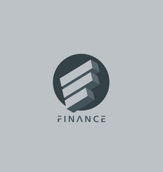 finance logo adviser business consalting vector image