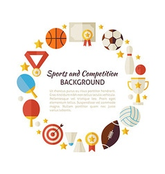 Flat style circle template sport recreation and vector