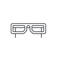 glasses thin line icon linear symbol vector image