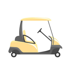 golf car golf sport equipment vector image