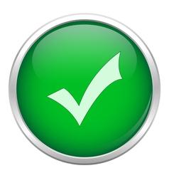 Green okay icon vector