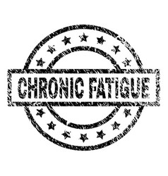 Grunge textured chronic fatigue stamp seal vector