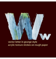 grungy letter W vector image