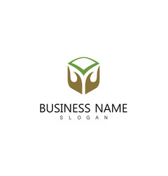 Hand care business logo vector
