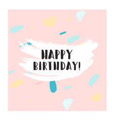 happy birthday confetti card vector image