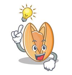 Have an idea pistachio nut mascot cartoon vector