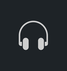 Headphone icon simple vector
