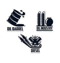 icon gasoline engine oil refinery barrel vector image