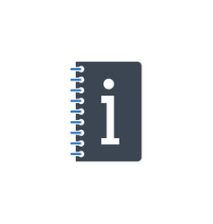 Instruction book related glyph icon vector