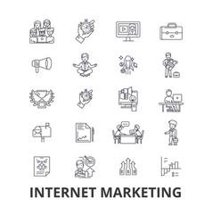 Internet marketing seo online shopping social vector
