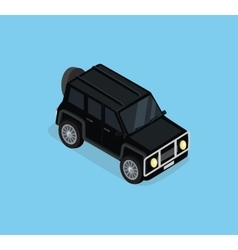 Isometric Safari off Road Car vector image