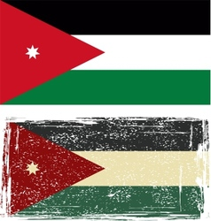 Jordanian grunge flag vector image