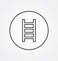 ladder outline symbol dark on white background vector image