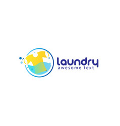 Laundry logo templates or wash service room vector