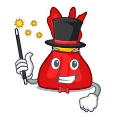 Magician wrapper candy mascot cartoon vector