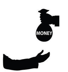 Money in hand vector