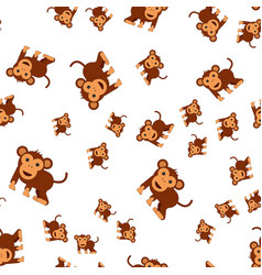 monkey seamless pattern vector image