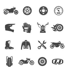 motorcycle equipment jackets helmets tools and vector image
