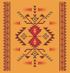 Native southwest american indian aztec vector