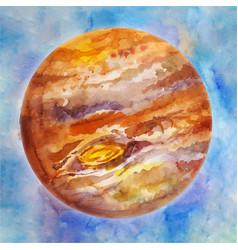 Neptune watercolor space background vector