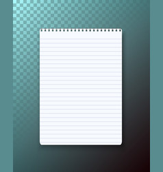 Notepad on transparent background vector