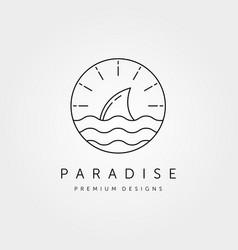 ocean wild logo symbol design vector image