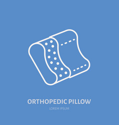 orthopedic pillow icon line logo flat sign for vector image
