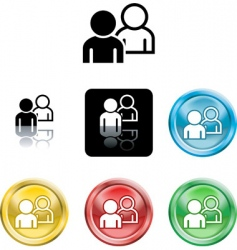 people networking icon vector image