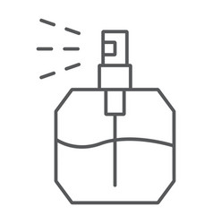 Perfume thin line icon fragrance and cosmetic vector