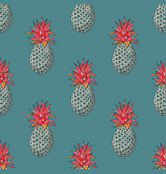 Pineapple funky seamless pattern vector