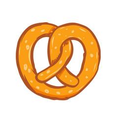 pretzel design element for poster card banner menu vector image