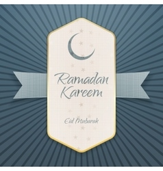 Ramadan Kareem Eid Mubarak festive Poster vector