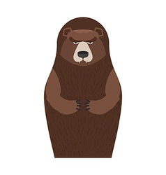 Russian Matryoshka bear People souvenir vector image