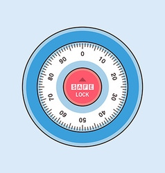 safe lock vector image