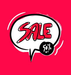 sale 50 off sticker for social media content vector image