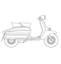 Scooter outline drawing vector