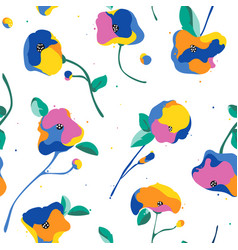 Seamless pattern with beautiful abstract and vector