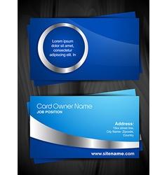 Shiny business card vector