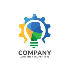 Smart intelligent person logo vector