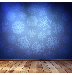 Snowflakes in blue room EPS 10 vector image