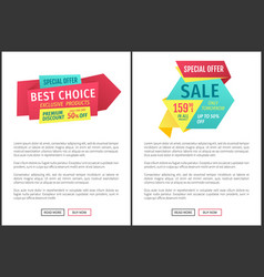 store or shop clearance event landing page sample vector image