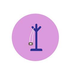 Stylish icon in circle floor coat hanger vector