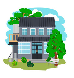 summer cottage house vector image