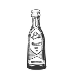 Traditional mexican tequila drink bottle vector